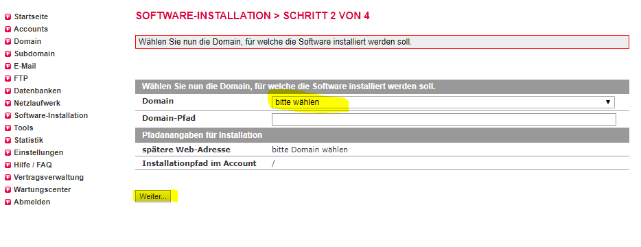 einfache-wordpress-installation