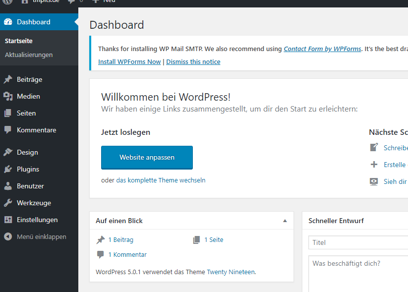 wordpress-backend-einrichten