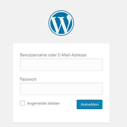wordpress-login-bildschirm