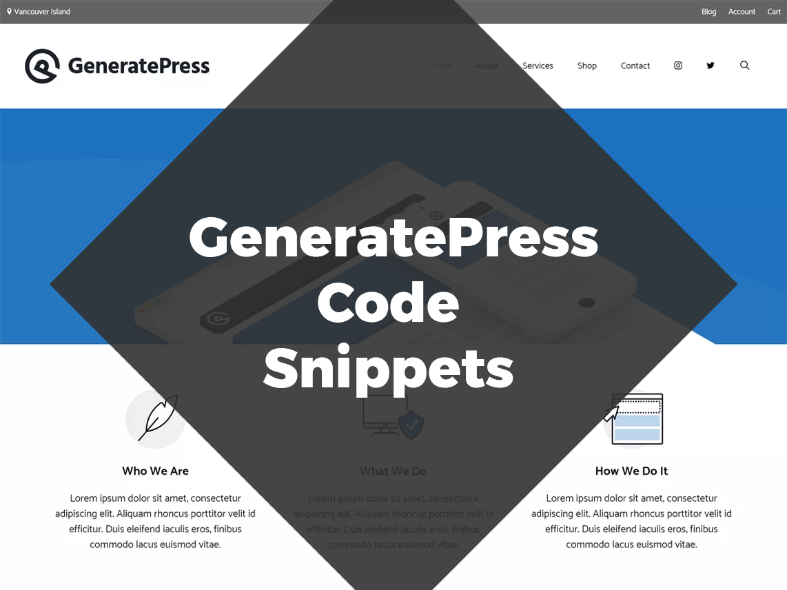 GeneratePress Code Snippets
